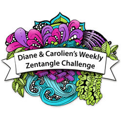Diane & Caroliens' weekly zentangle challenge