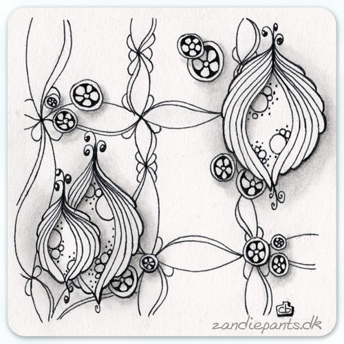 Pen & Pencil. Used tangles: Abundies, Kyoto & Twirl. ©Zandiepants