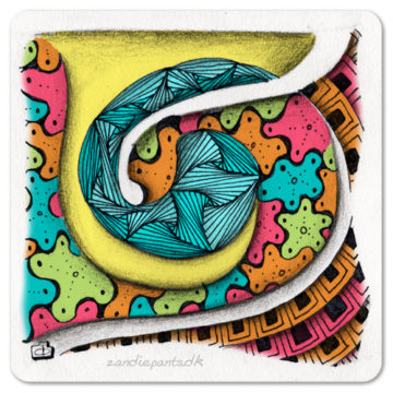 PSC Zentangle Challenge Entry - Color