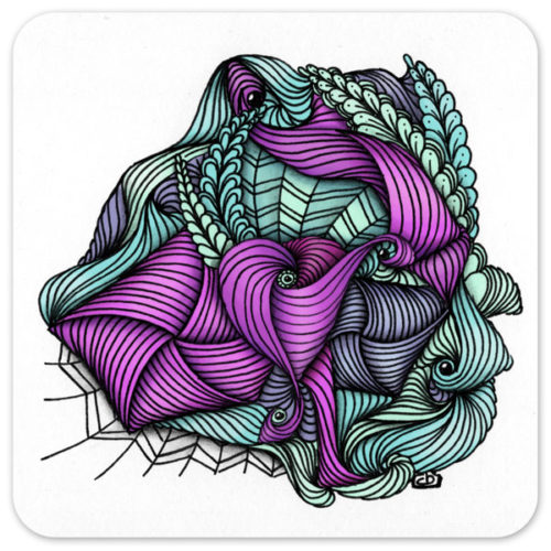 Pencil and ink drawing with digital color